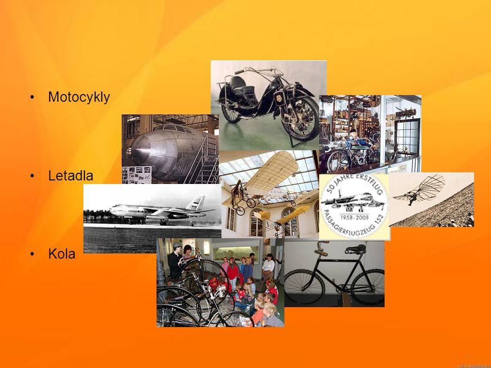 Motocykly Letadla Kola