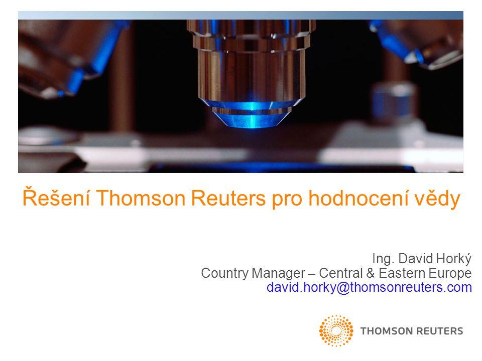 Řešení Thomson Reuters pro hodnocení vědy