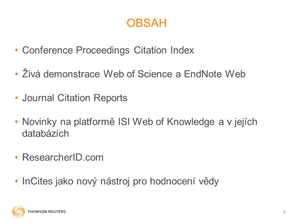 OBSAH Conference Proceedings Citation Index