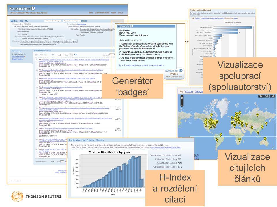 Vizualizace spoluprací (spoluautorství)