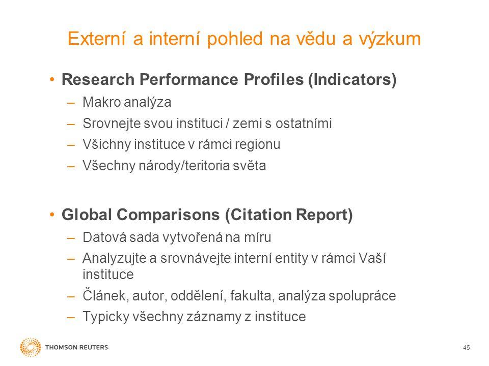 Externí a interní pohled na vědu a výzkum