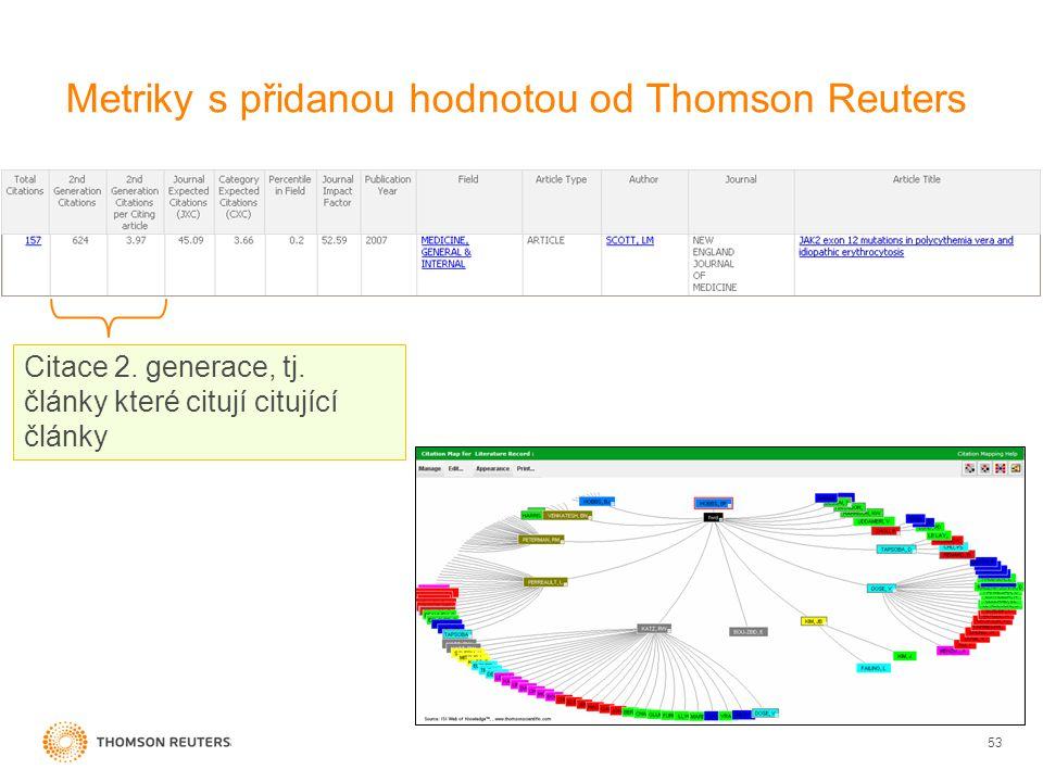 Metriky s přidanou hodnotou od Thomson Reuters