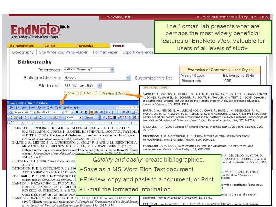 Quickly and easily create bibliographies.