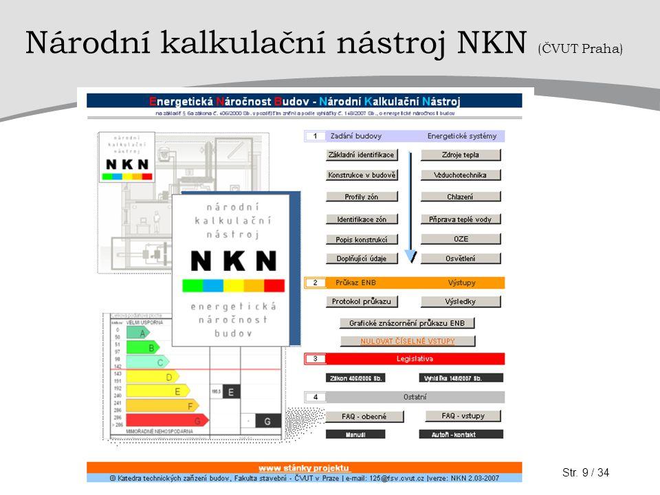 Národní kalkulační nástroj NKN (ČVUT Praha)