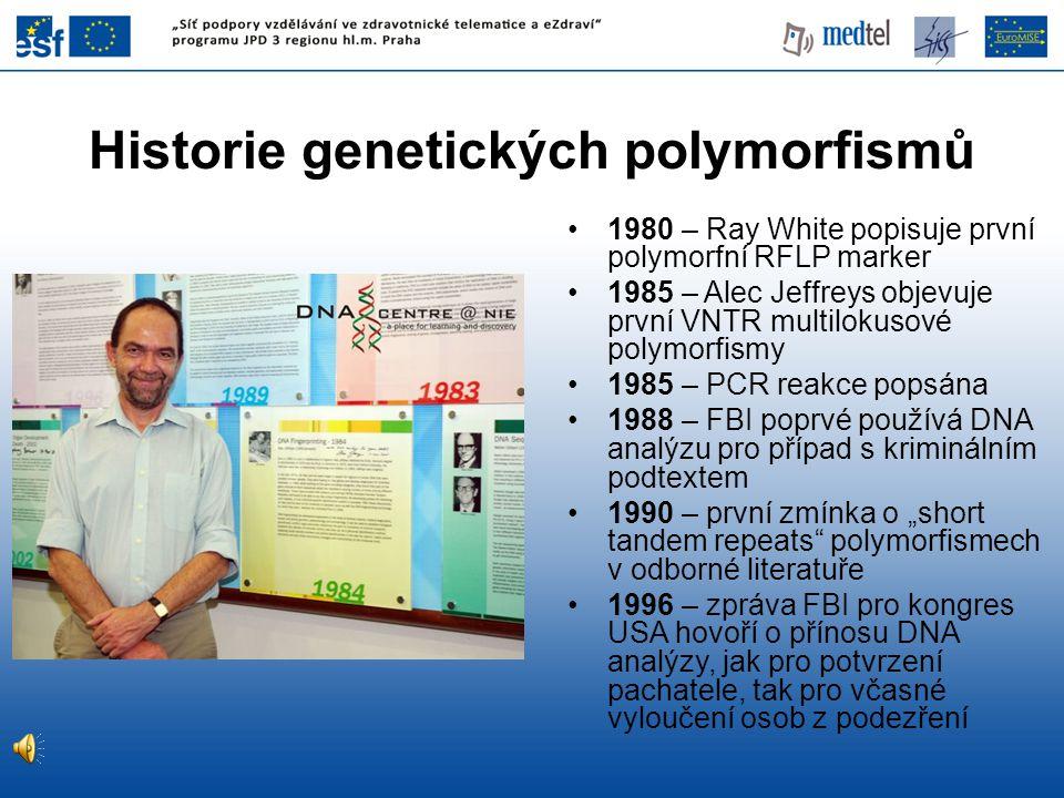 Historie genetických polymorfismů