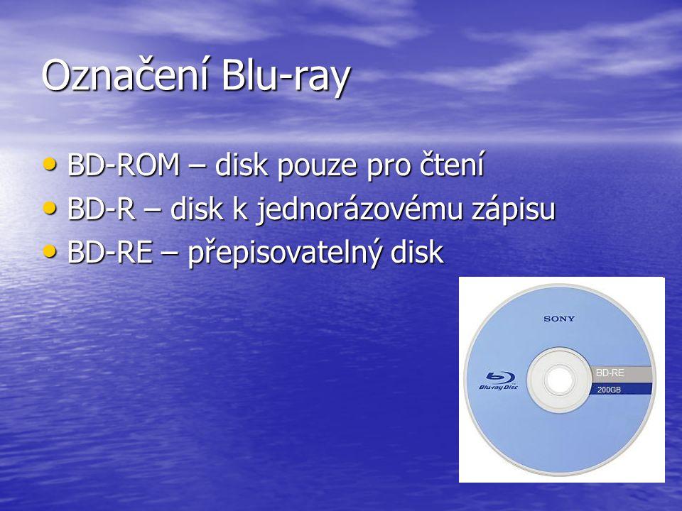 Označení Blu-ray BD-ROM – disk pouze pro čtení