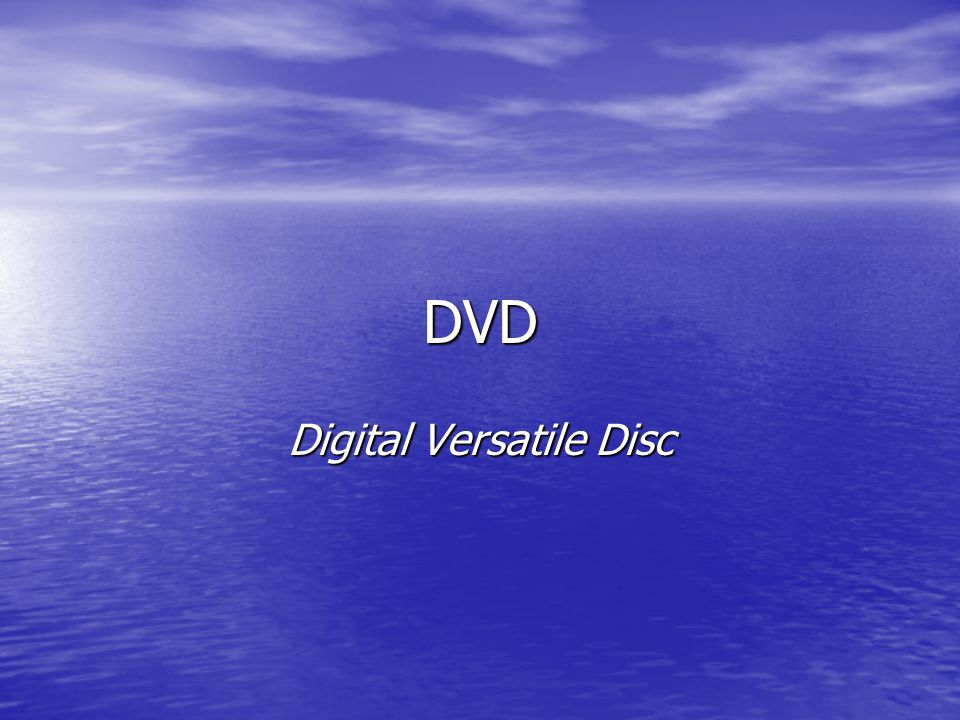 Digital Versatile Disc