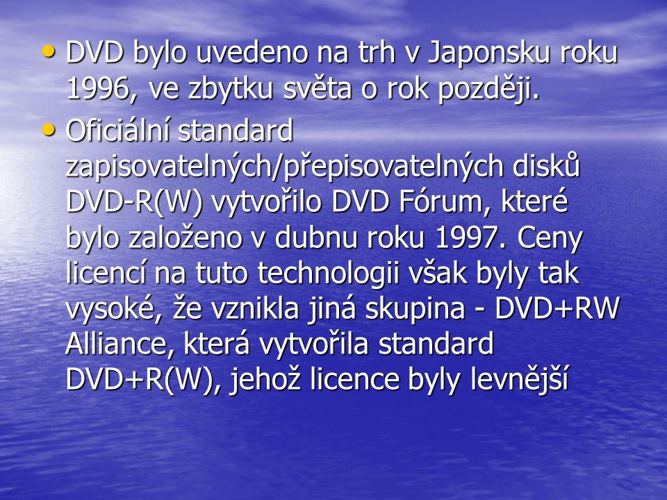 DVD bylo uvedeno na trh v Japonsku roku 1996, ve zbytku světa o rok později.