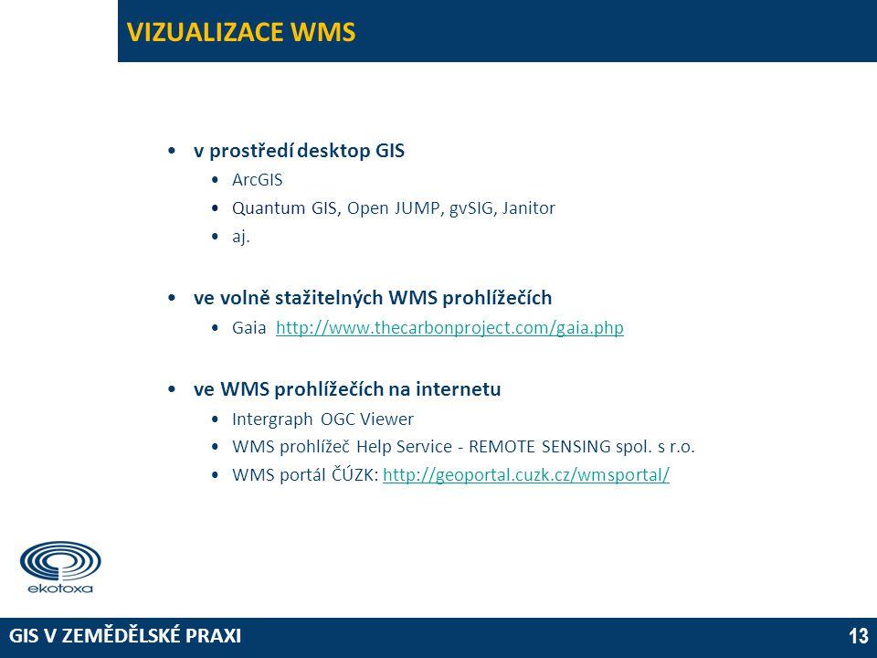 VIZUALIZACE WMS v prostředí desktop GIS