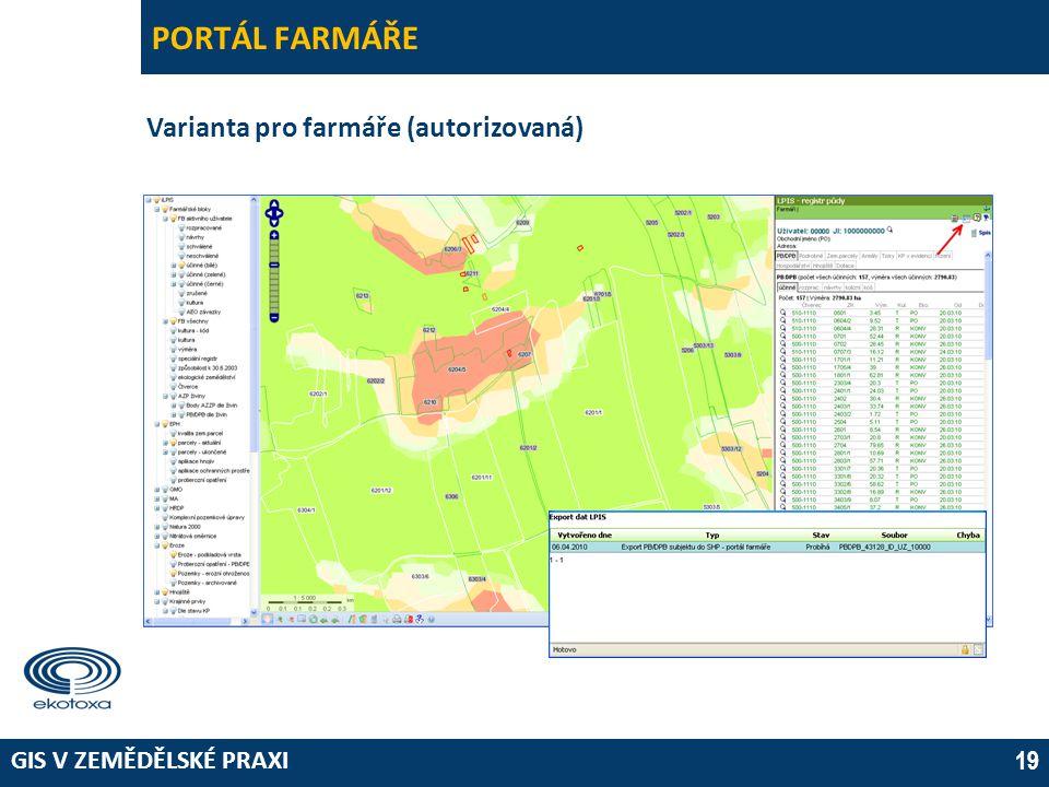 PORTÁL FARMÁŘE Varianta pro farmáře (autorizovaná) 03 April 2017