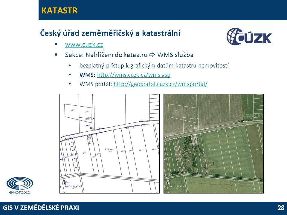 KATASTR Český úřad zeměměřičský a katastrální www.cuzk.cz