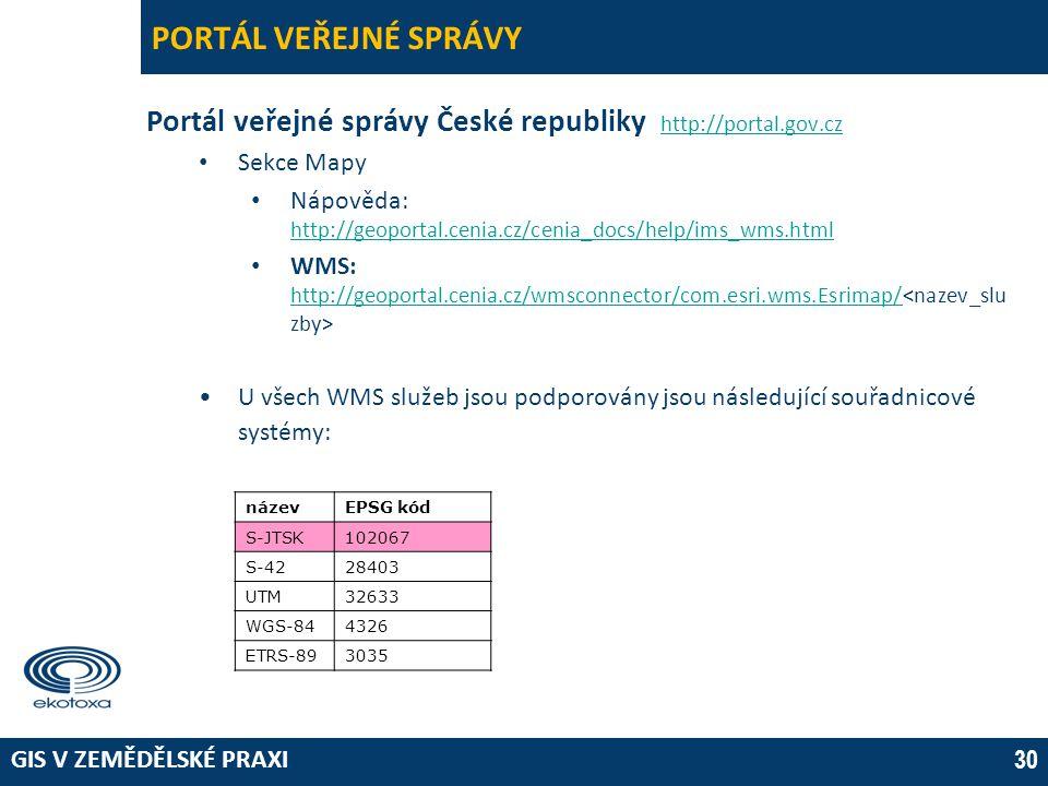 PORTÁL VEŘEJNÉ SPRÁVY 03 April 2017. Portál veřejné správy České republiky http://portal.gov.cz. Sekce Mapy.