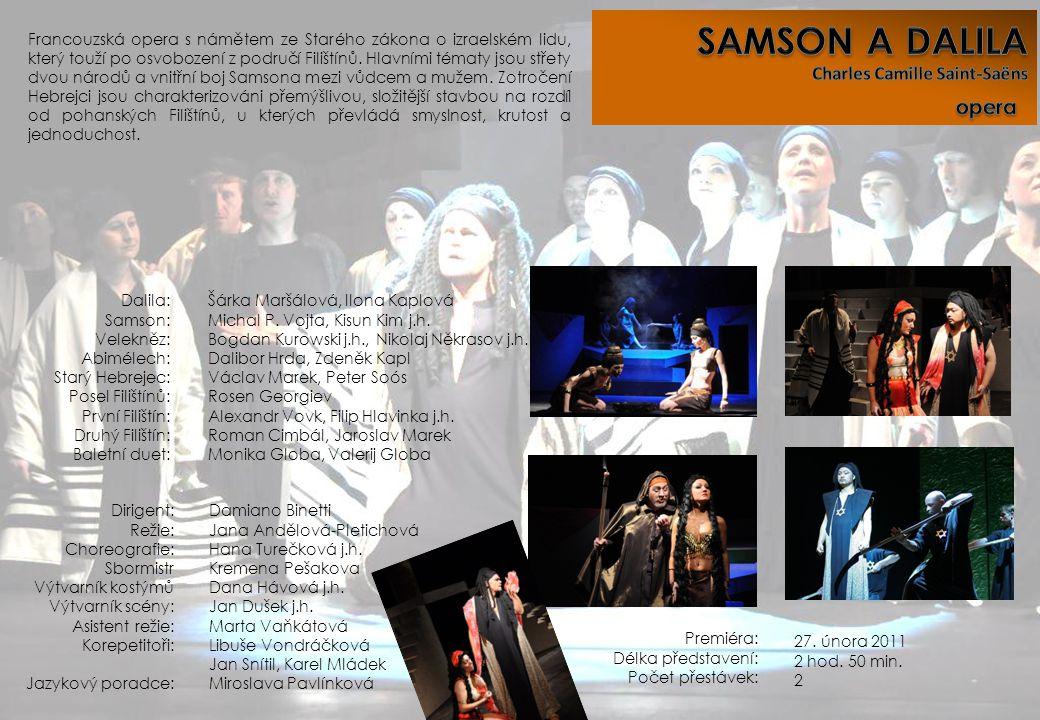SAMSON A DALILA opera Charles Camille Saint-Saëns