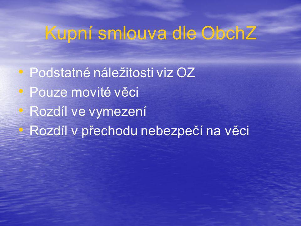 Kupní smlouva dle ObchZ