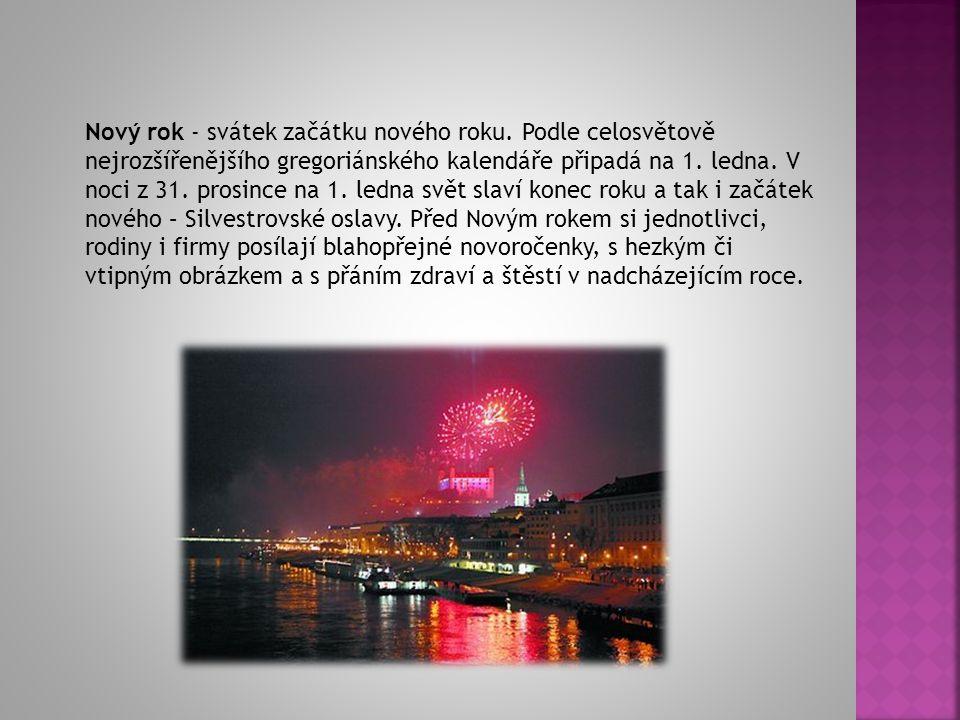 Nový rok - svátek začátku nového roku