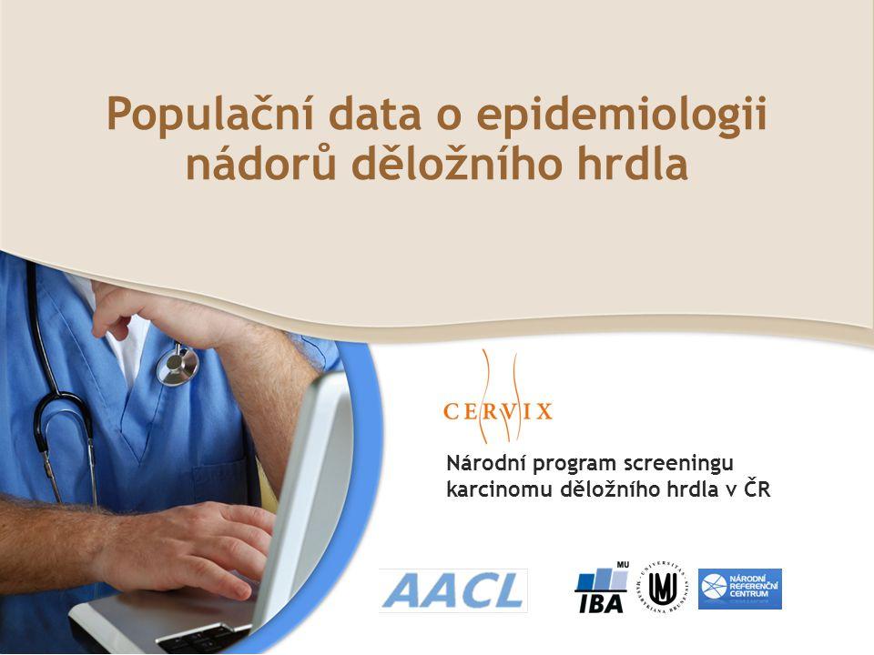 Populační data o epidemiologii nádorů děložního hrdla