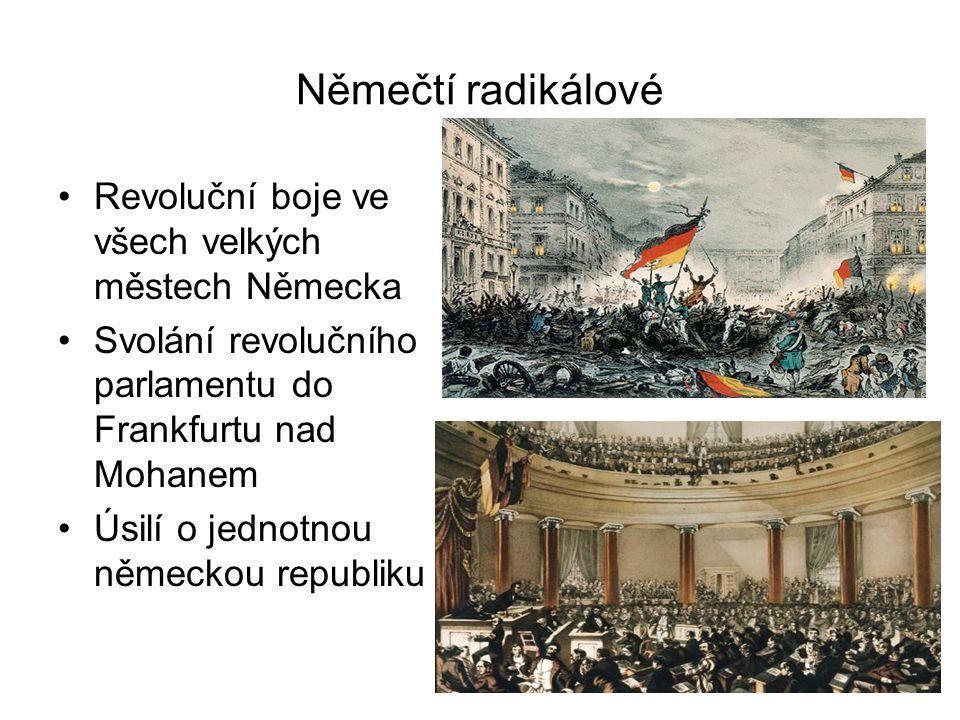 Němečtí radikálové Revoluční boje ve všech velkých městech Německa