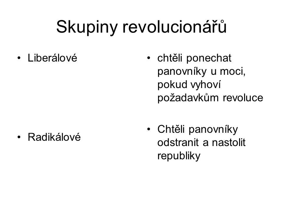 Skupiny revolucionářů