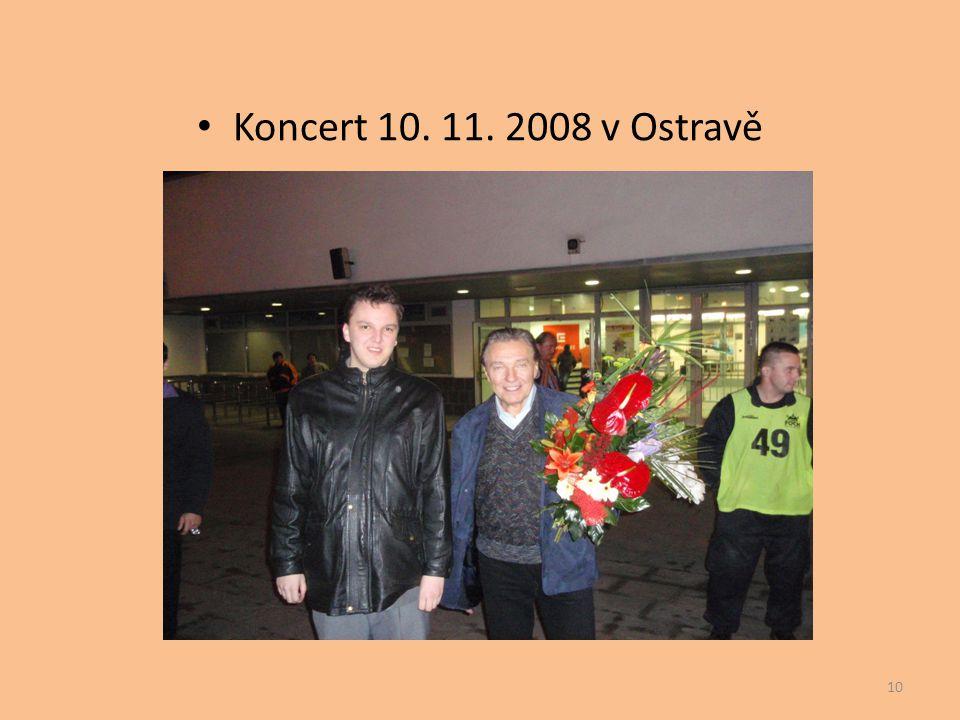 Koncert 10. 11. 2008 v Ostravě
