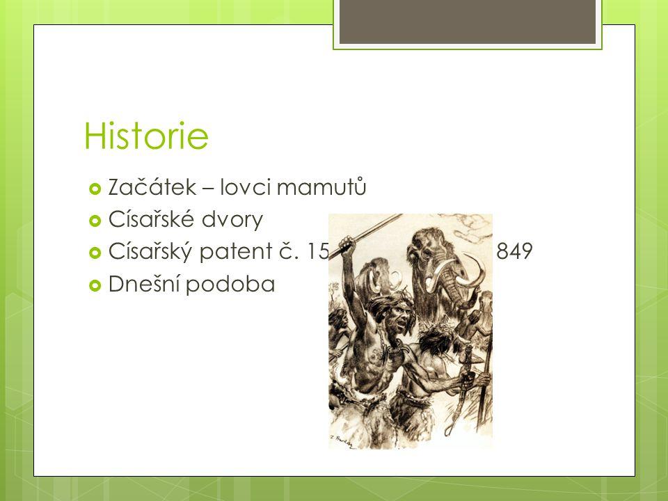 Historie Začátek – lovci mamutů Císařské dvory