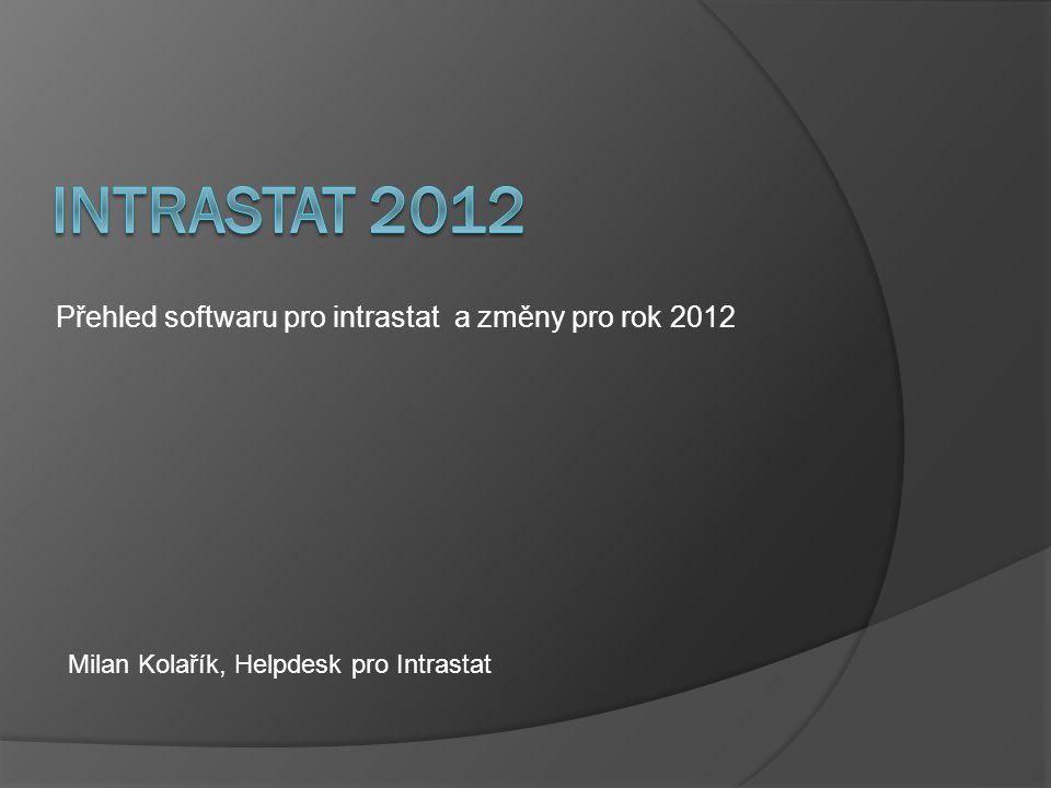 Přehled softwaru pro intrastat a změny pro rok 2012