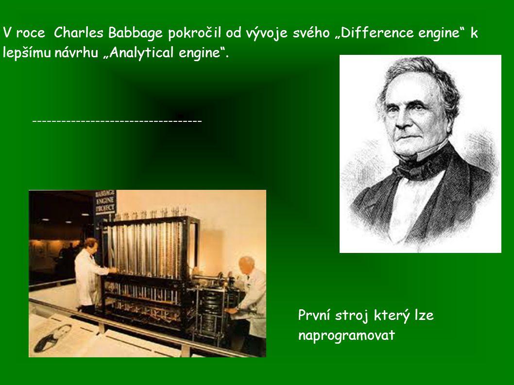 První stroj který lze naprogramovat