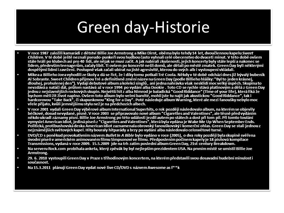 Green day-Historie