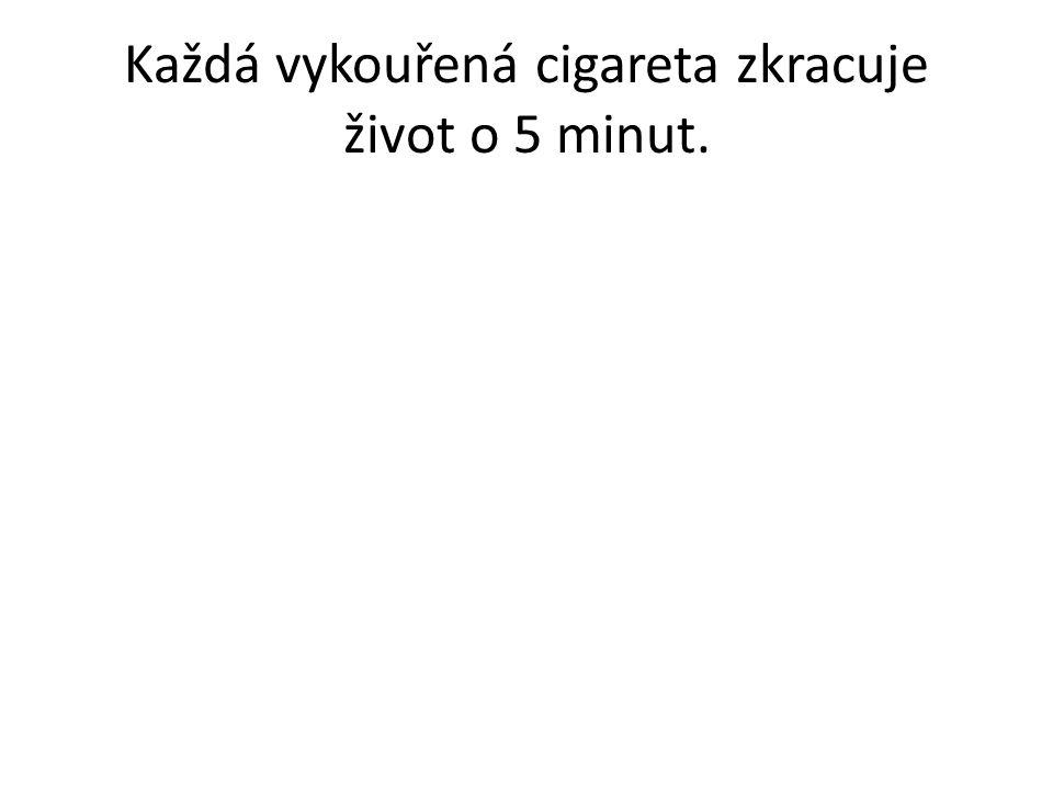 Každá vykouřená cigareta zkracuje život o 5 minut.