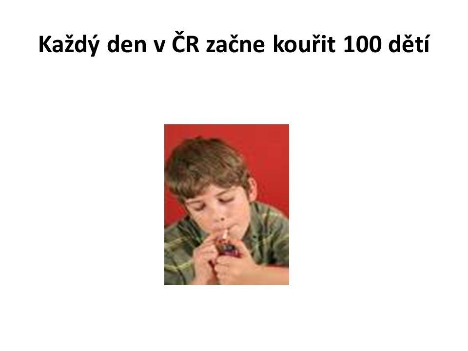 Každý den v ČR začne kouřit 100 dětí