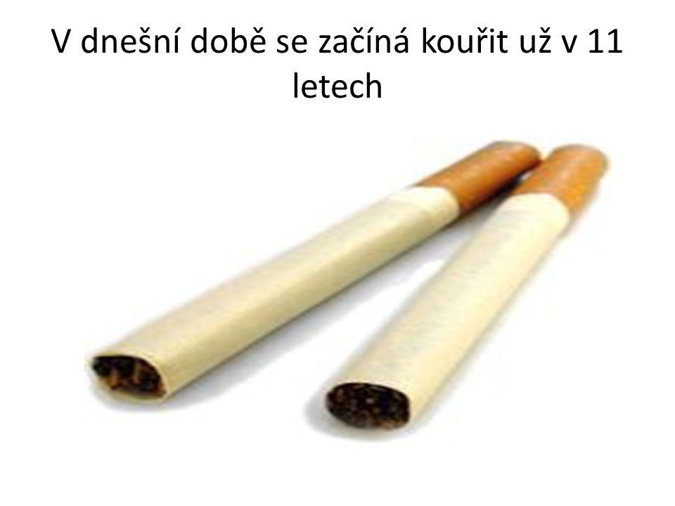 V dnešní době se začíná kouřit už v 11 letech