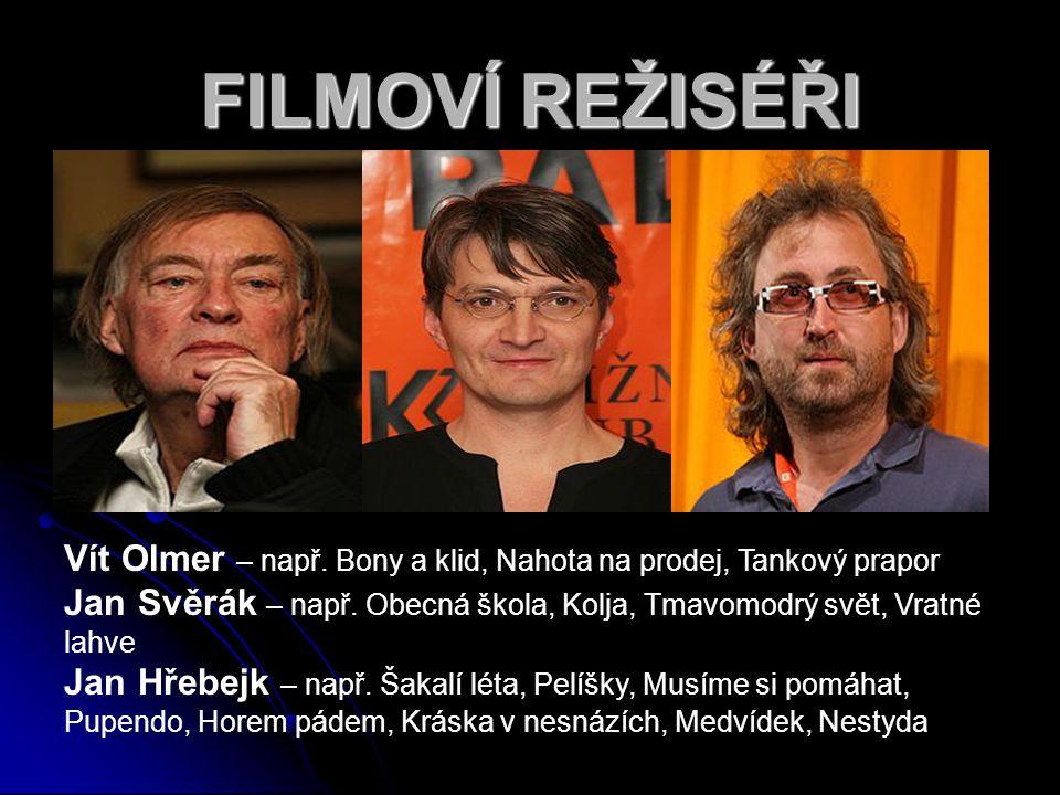 FILMOVÍ REŽISÉŘI Vít Olmer – např. Bony a klid, Nahota na prodej, Tankový prapor.