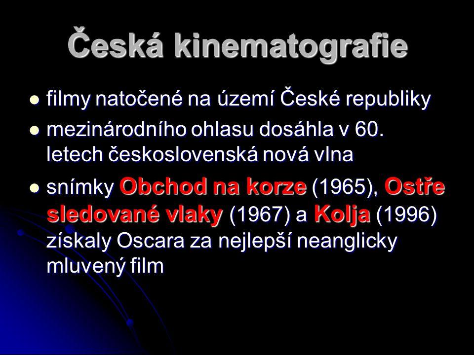 Česká kinematografie filmy natočené na území České republiky