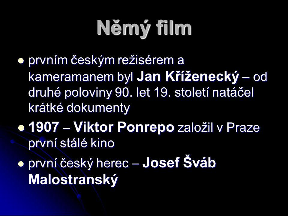 Němý film 1907 – Viktor Ponrepo založil v Praze první stálé kino