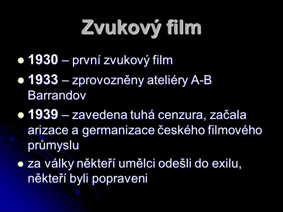Zvukový film 1930 – první zvukový film