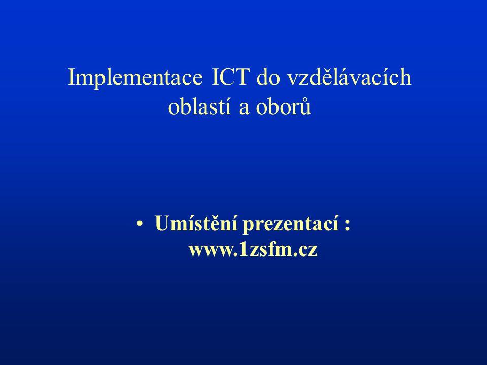 Umístění prezentací : www.1zsfm.cz