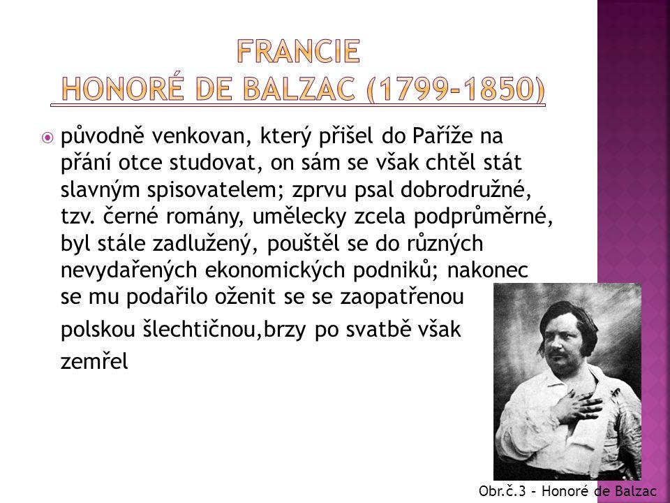 Francie Honoré de Balzac (1799-1850)
