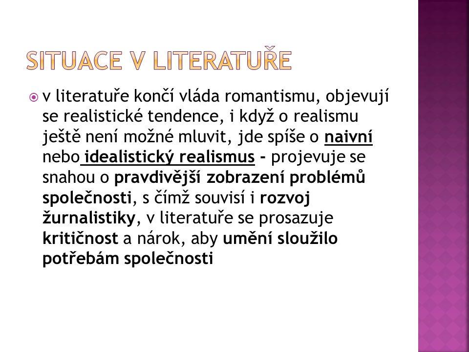 Situace v literatuře