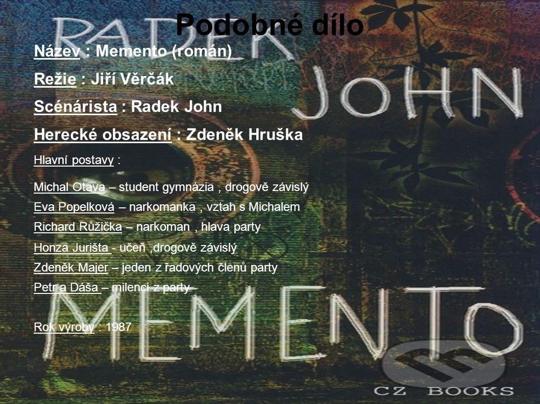 Podobné dílo Název : Memento (román) Režie : Jiří Věrčák