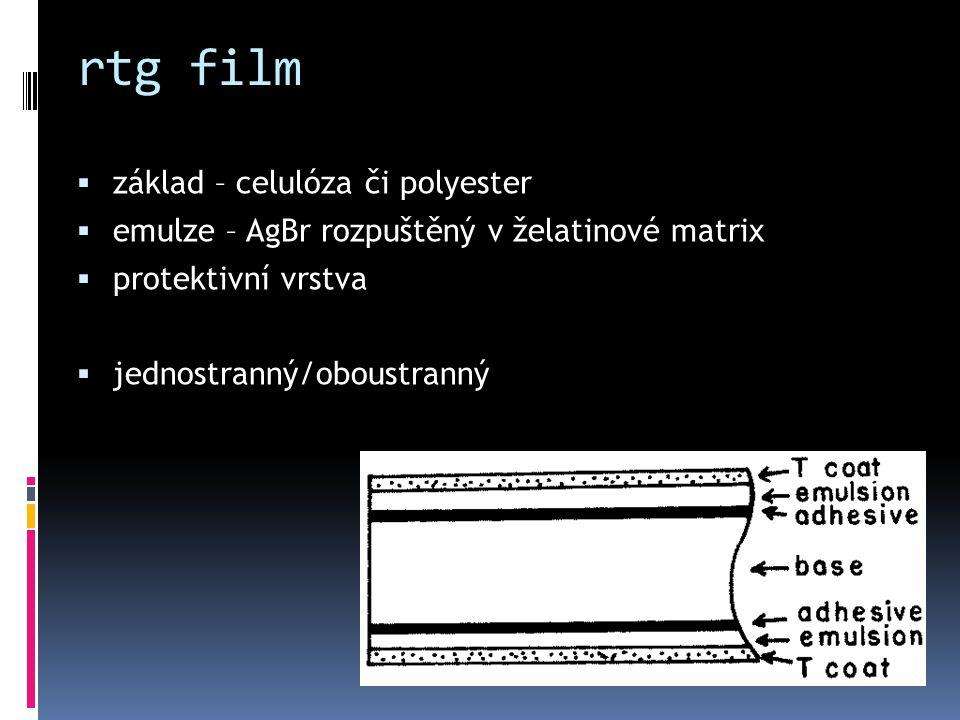 rtg film základ – celulóza či polyester
