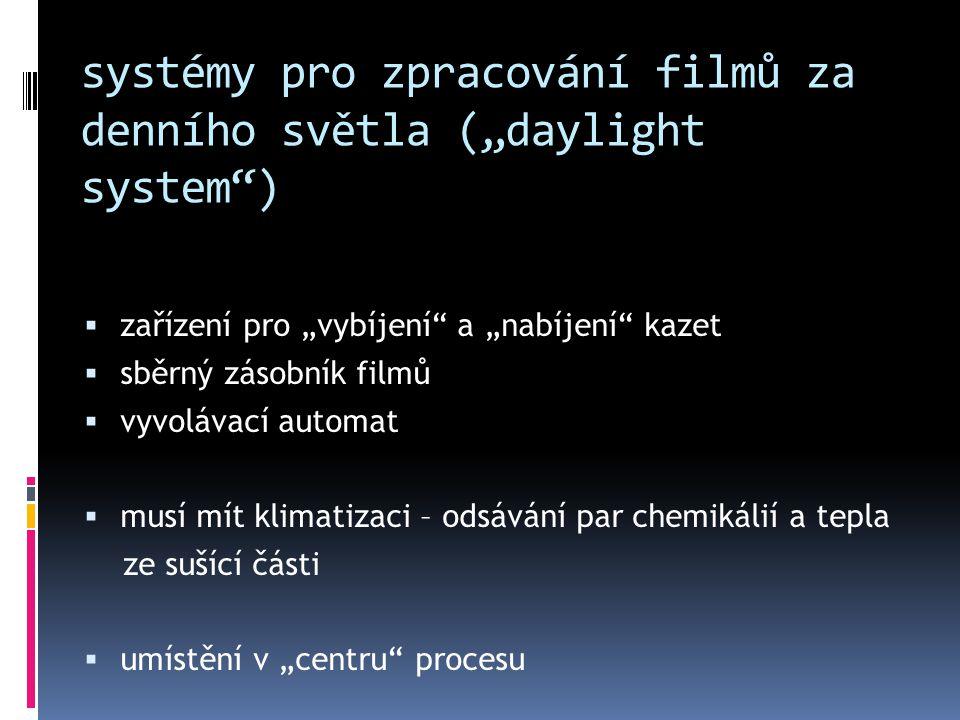 """systémy pro zpracování filmů za denního světla (""""daylight system )"""