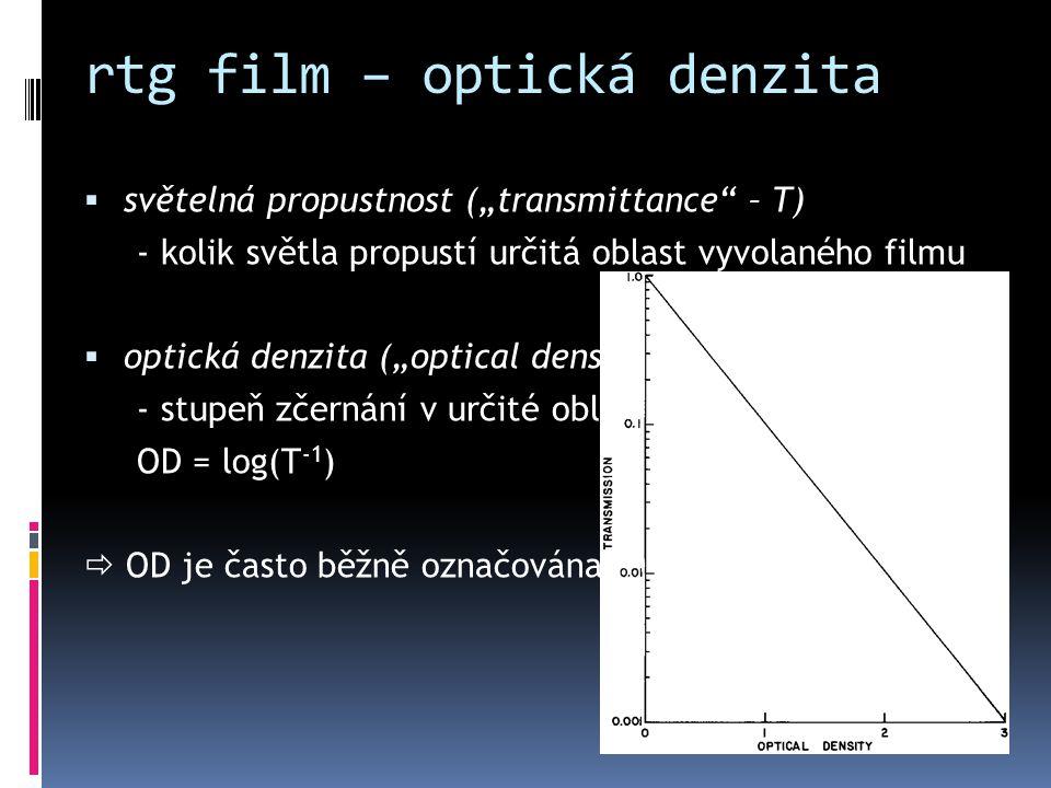 rtg film – optická denzita