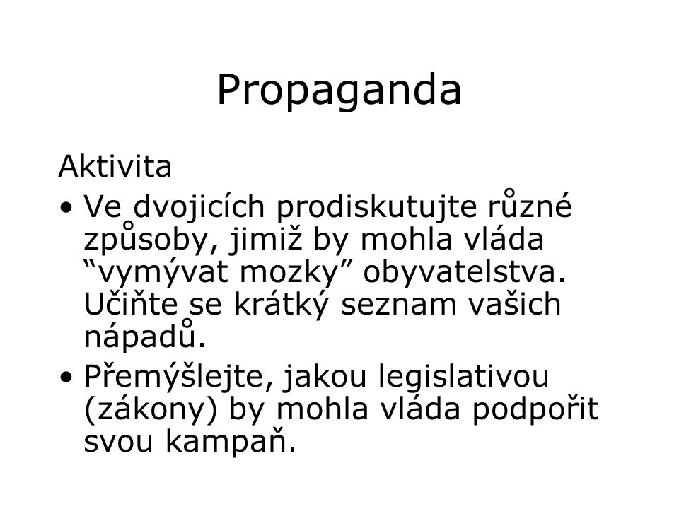 Propaganda Aktivita.