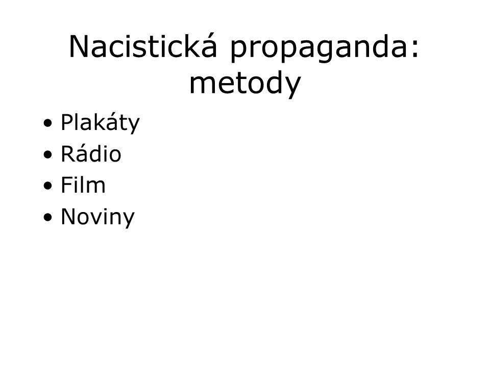Nacistická propaganda: metody