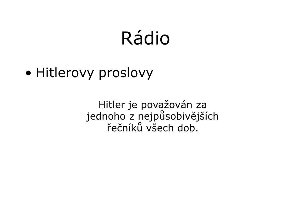 Hitler je považován za jednoho z nejpůsobivějších řečníků všech dob.