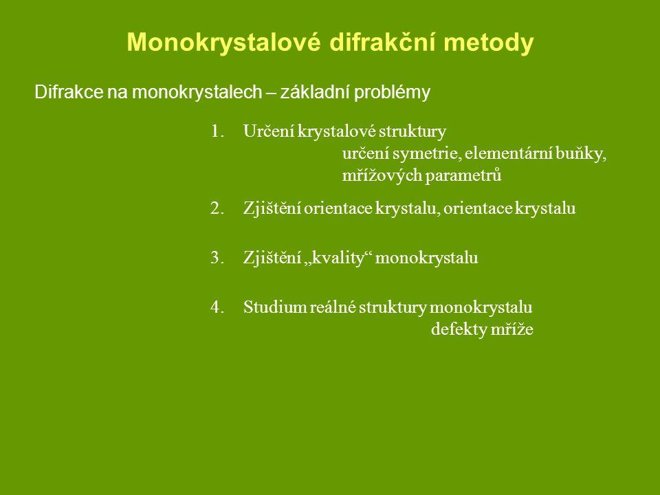 Monokrystalové difrakční metody
