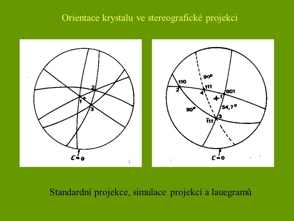 Orientace krystalu ve stereografické projekci