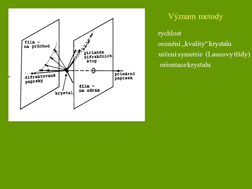 """Význam metody rychlost ocenění """"kvality krystalu"""