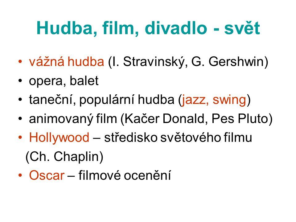 Hudba, film, divadlo - svět