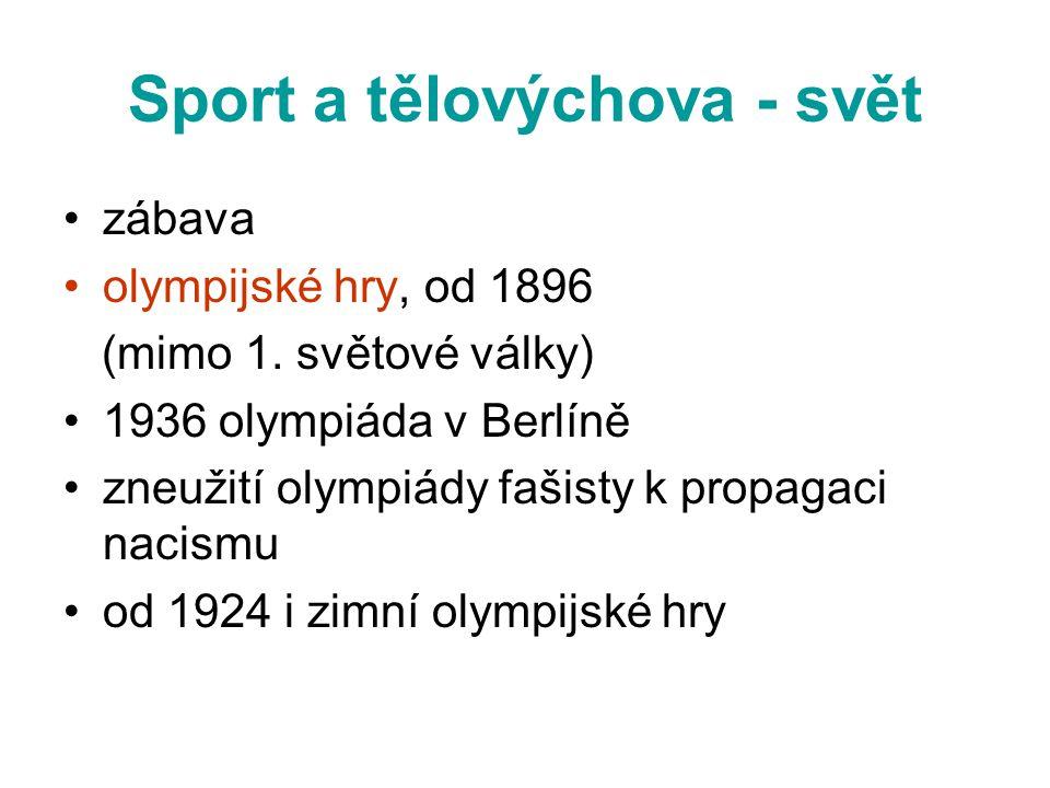 Sport a tělovýchova - svět
