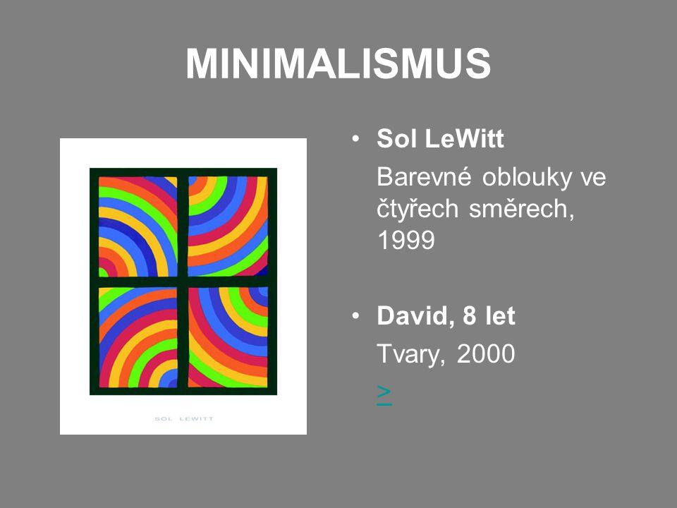 MINIMALISMUS Sol LeWitt Barevné oblouky ve čtyřech směrech, 1999